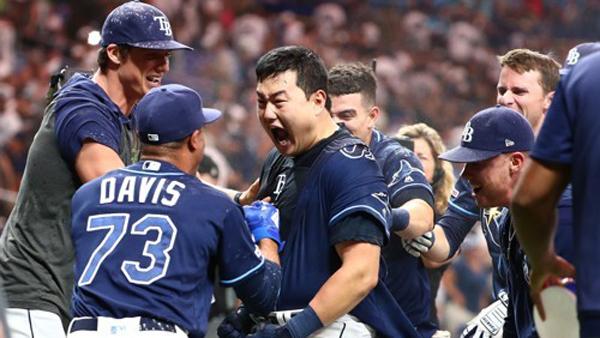 최지만 뉴욕 양키스전 끝내기 홈런 시즌 18호 홈런